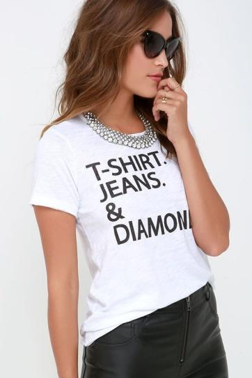 T-Shirts, Jeans and Diamonds.....