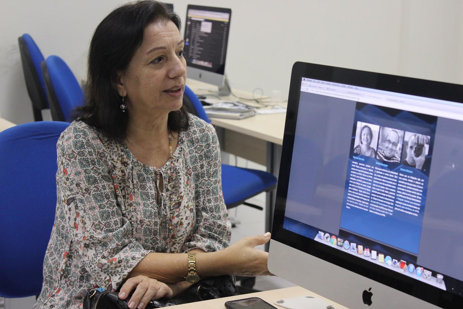 Resultado de imagem para professora e jornalista Ângela Almeida