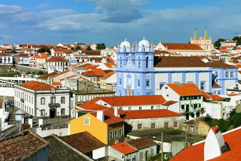 Historic centre of Angra do Heroismo, a UNESCO World Heritage Site. Terceira, Azores islands, Portugal