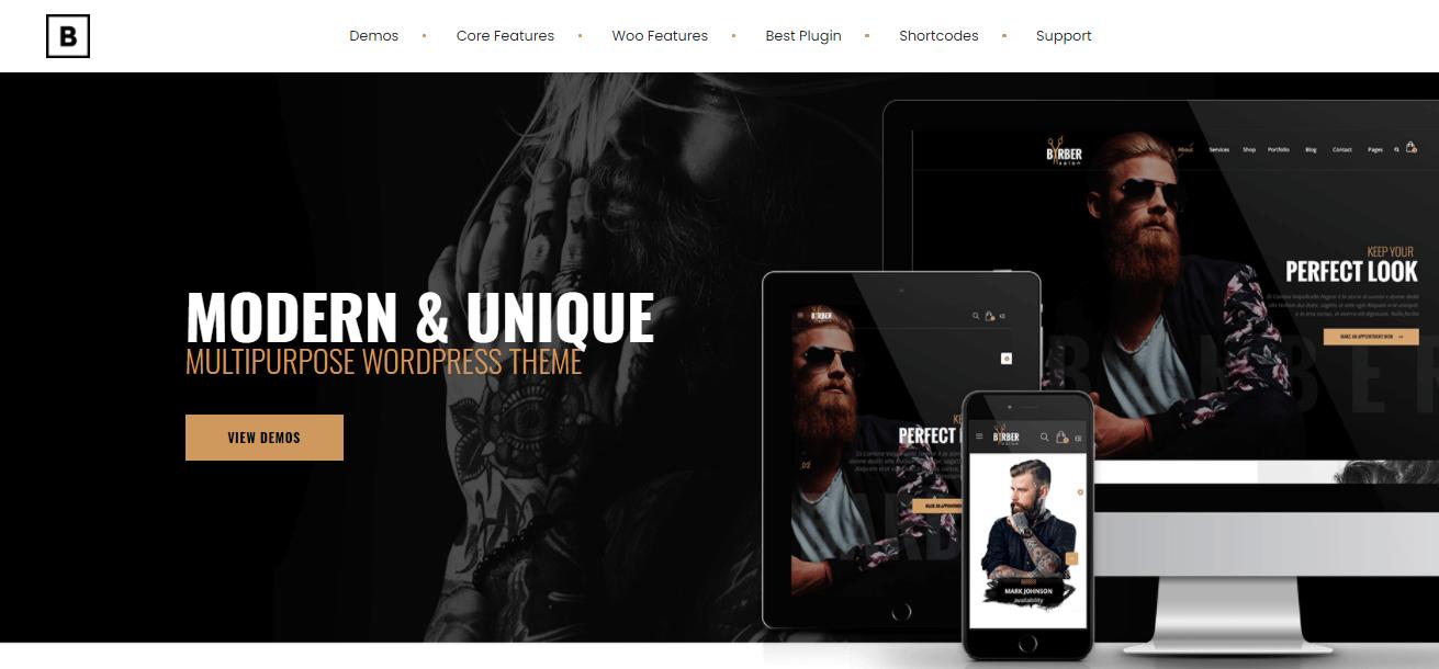 Barber - fashion ecommerce wordpress themes