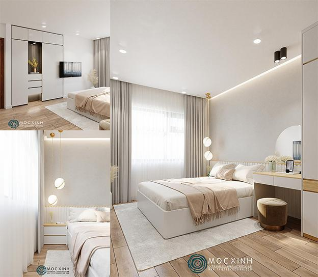 Thiết kế nội thất không gian phòng ngủ master