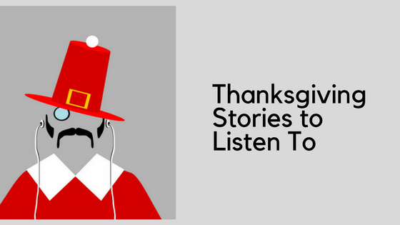 Thanksgiving Pilgrim graphic - in red hat & coat instead of the traditional black
