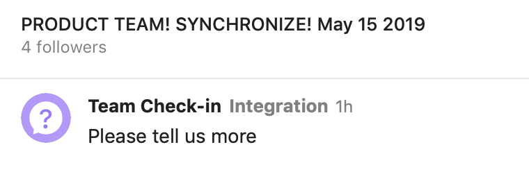Product Team synchronize