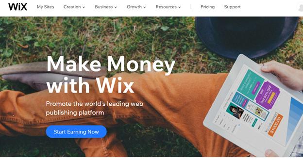 Wix affiliate marketing program