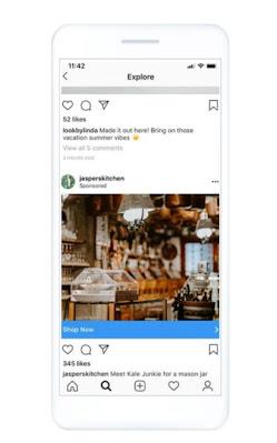 Ubicación sección Explorar Instagram