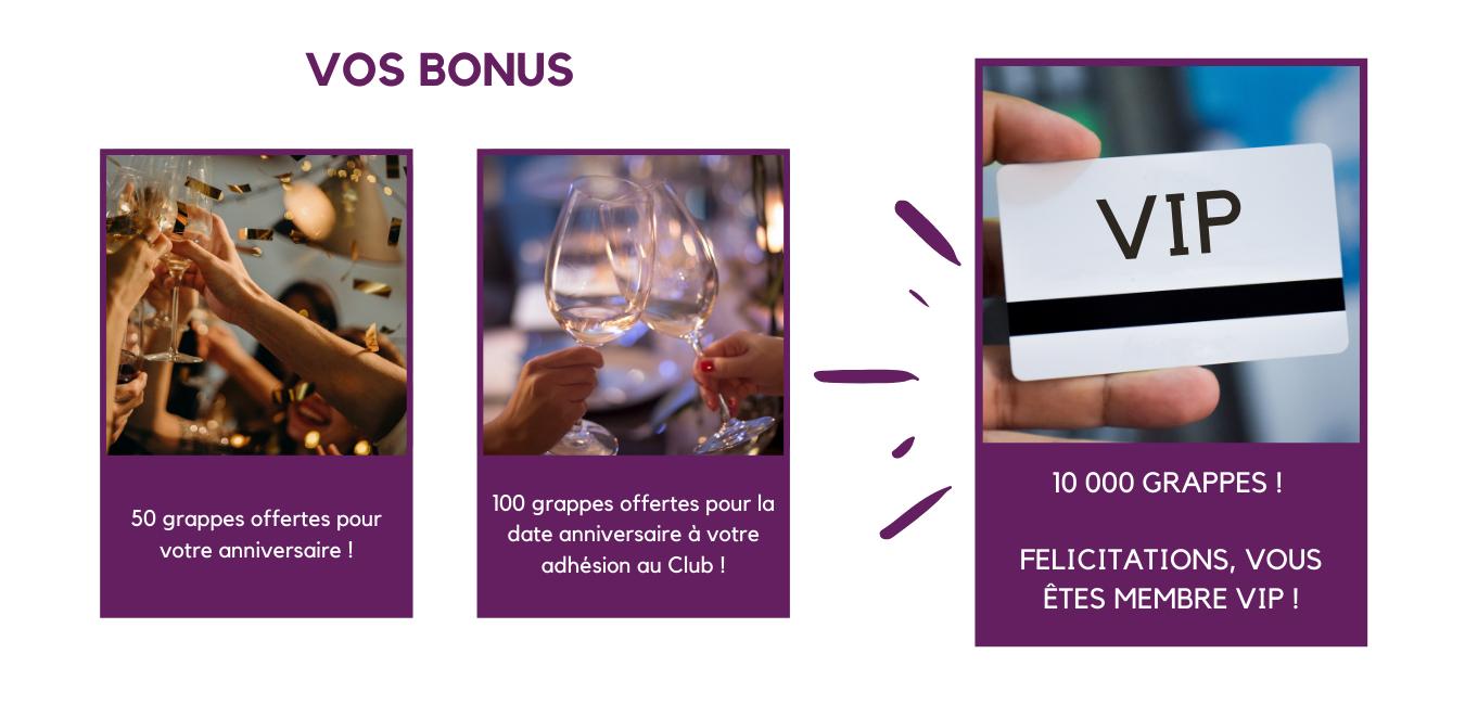 Bonus Club de Membres, Wine&spirit Lodging