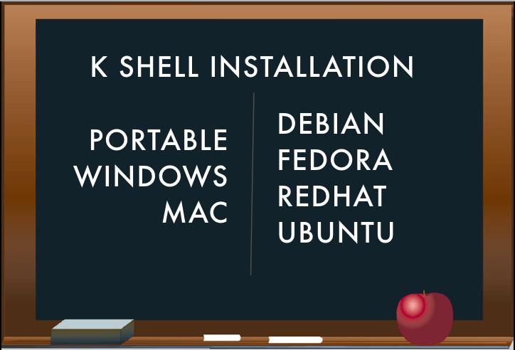 unix shells install k shell