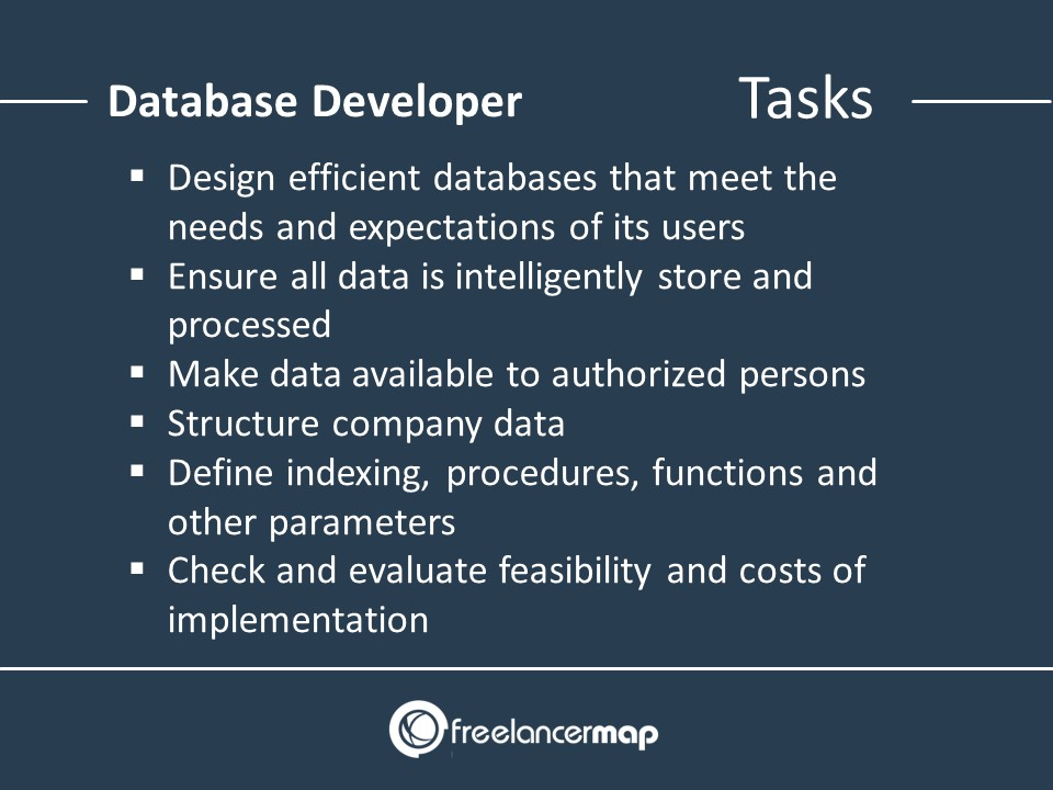 The responsibilities of a Database Developer