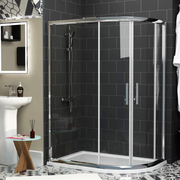 Offset Quadrant Shower Tray