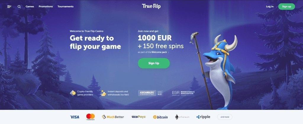 True Flip Casino Home page