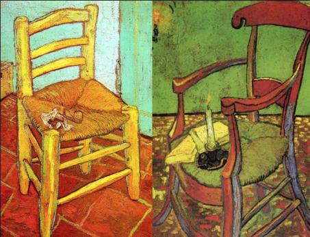 Il Est Interessant De Comparer La Chaise Van Gogh Avec Le Tableau Quil Fait Du Fauteuil Gauguin Arles En 1888 On Percoit Bien Une Opposition Entre