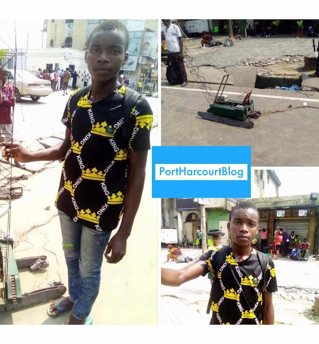18 Years Old Boy Displays the Crane He Constructed