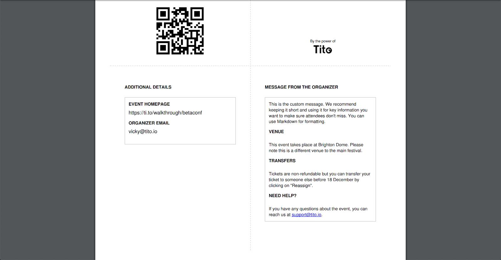 Tito PDF ticket