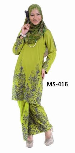 Baju Kurung Pahang Hijau Apple Fesyen Baju Raya 2014