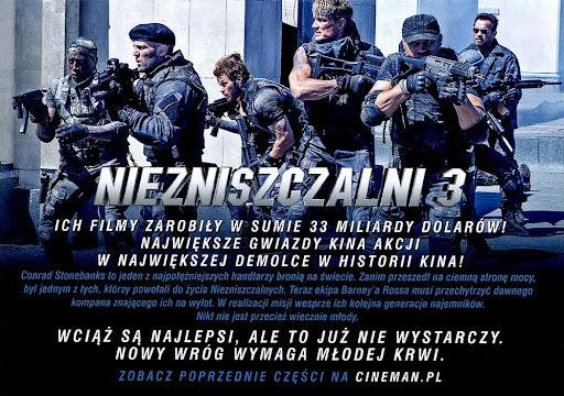 Tył ulotki filmu 'Niezniszczalni 3'