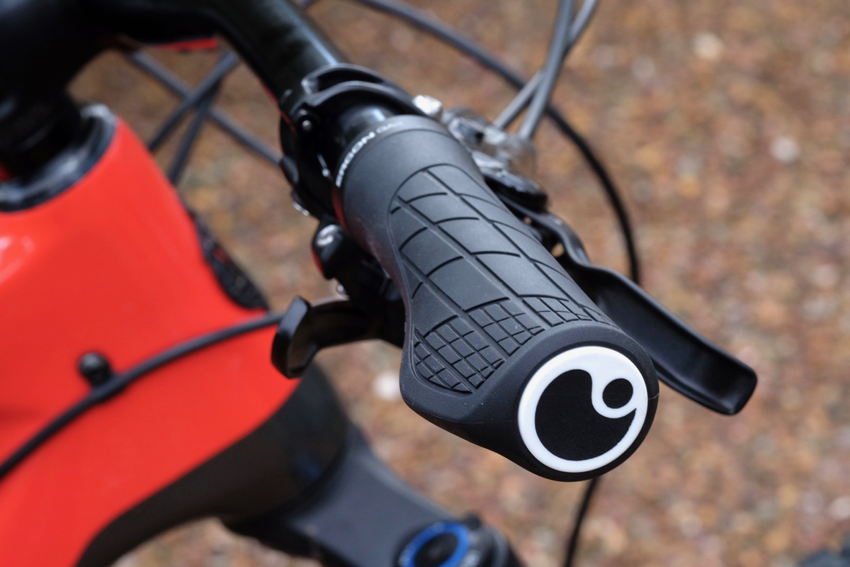 Mountain bike grip adhesives prevent grip slippage during rides in inclement weather or over bumpy terrain