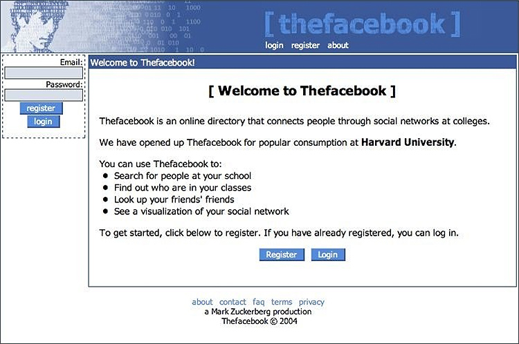 Facebook MVP: How the first facebook page looked like