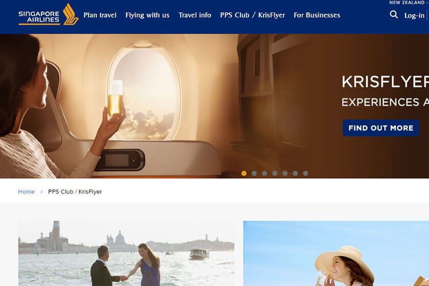 Singapore Airlines rewards program.