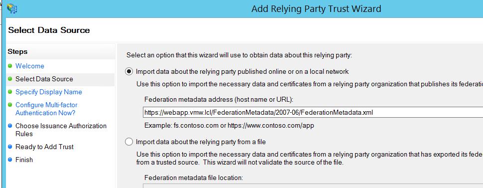 My Home Netscaler Lab: ADFS -1 - Establish Federation