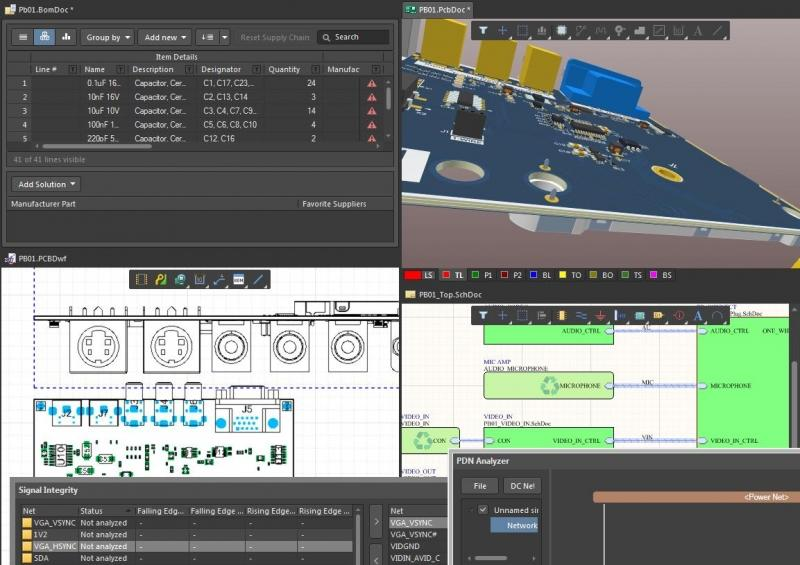 Screenshot of multiple tools in step up into Altium Designer from PCAD