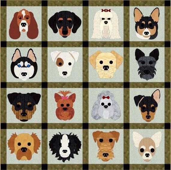 Quilt Feating Dogs - Pattern on Craftsy