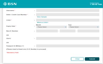 Bsn Online Cara Tukar Password Langkah Demi Langkah