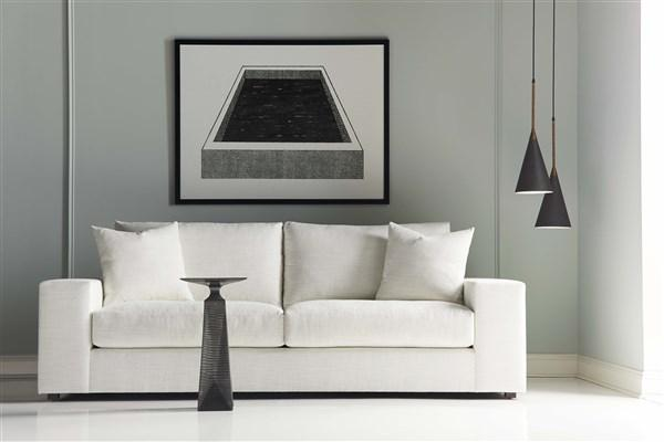 Modern Sofa in Living Room with Mod Art