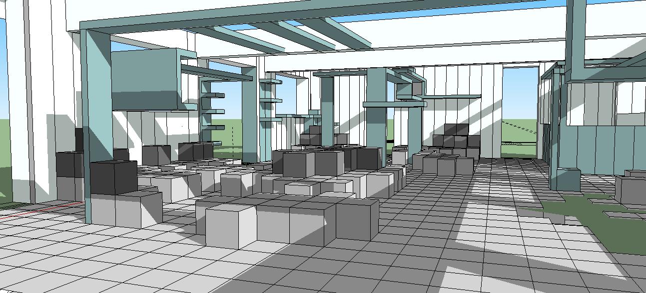 projetos 3D blocos sketchup