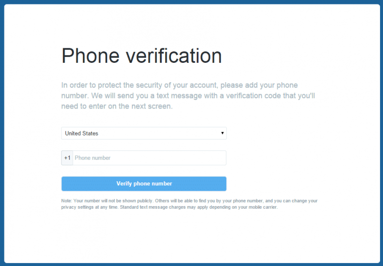 unlock Twitter account without phone number