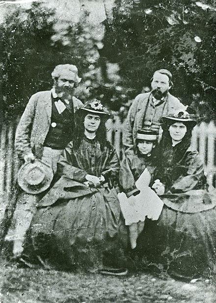 کارل مارکس، خانواده اش و فریدریش انگلس