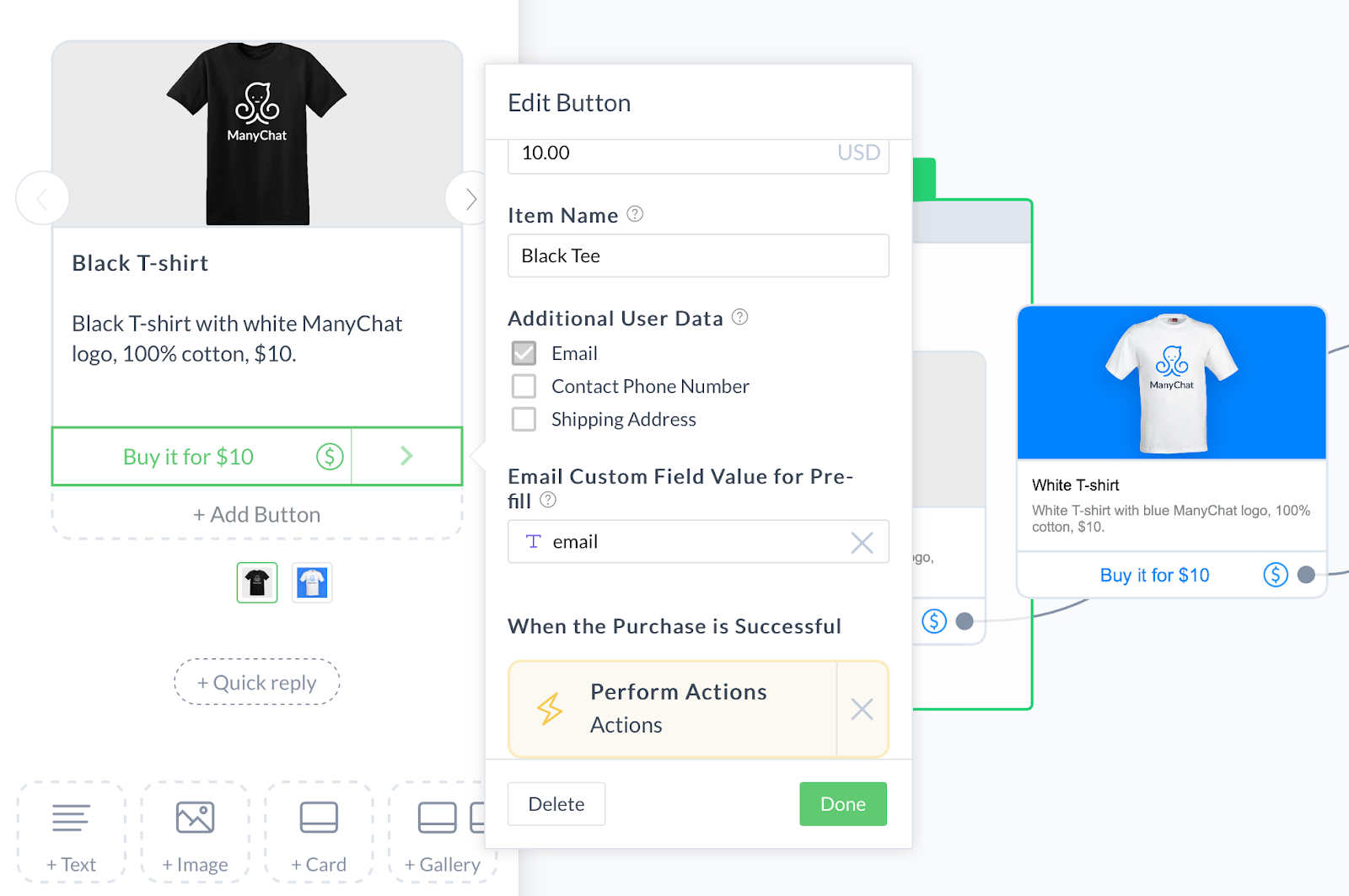 Taking Payment in ManyChat | Facebook Messenger Bot Flow for eCommerce
