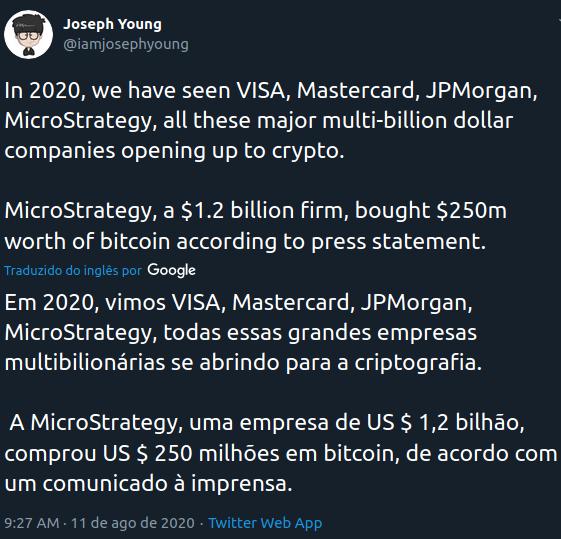 Comentário Joseph Young