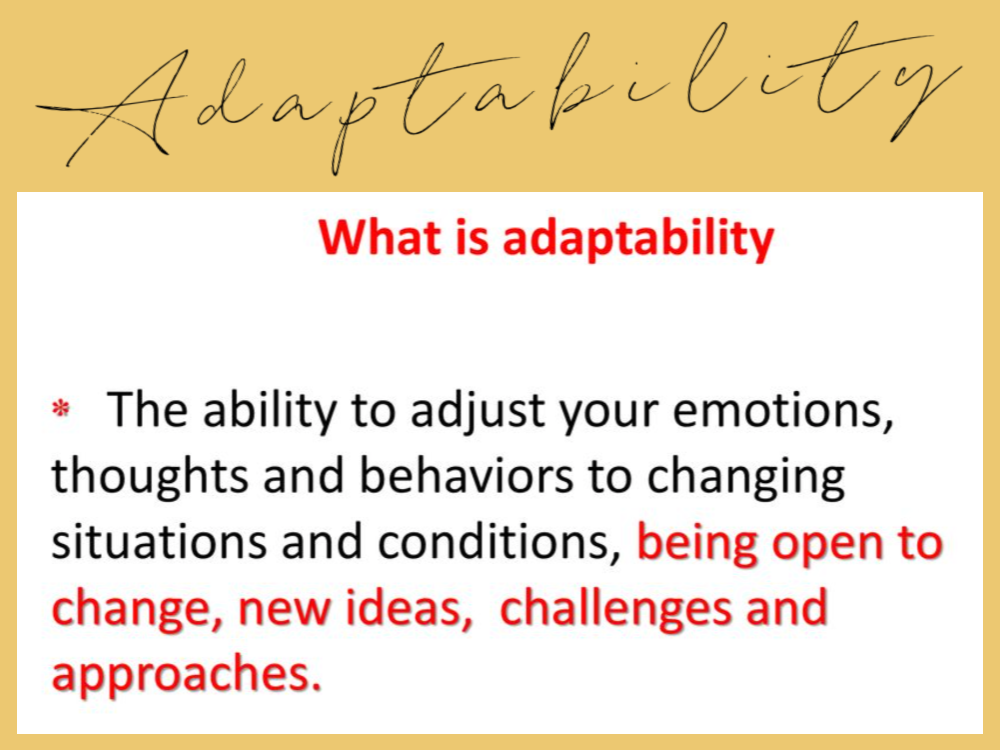 what is adaptability