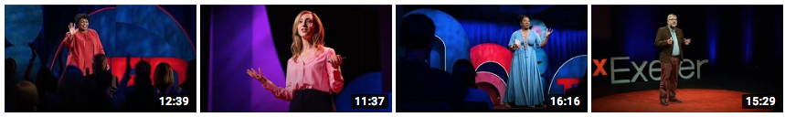 A screenshot of consistent thumbnails from TedTalks.