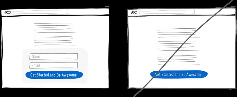 Выделите поля, не создавая дополнительных страниц