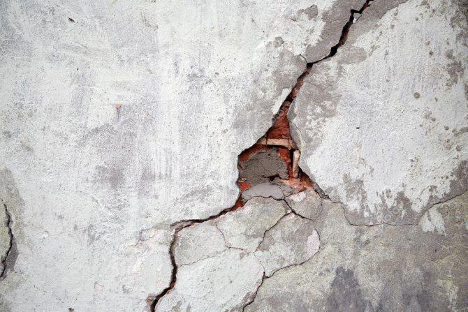 Sơn hiệu ứng Waldo-Các nguyên nhân nứt tường