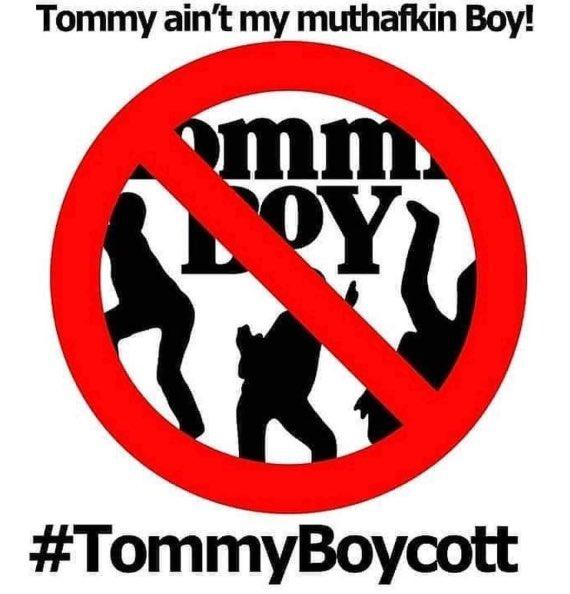 Ljestve teme #tommyboycott na Twitteru