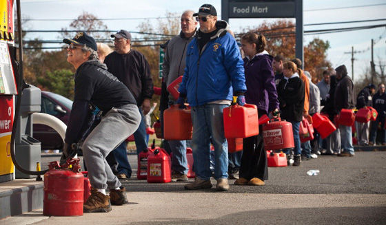 Expect hours upon hours of lines, assuming stations actually do have gas, to fill up your car or gas can for generators. (Getty Images)