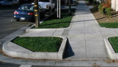 Image source: Curb cut from the Sumner Davenport website