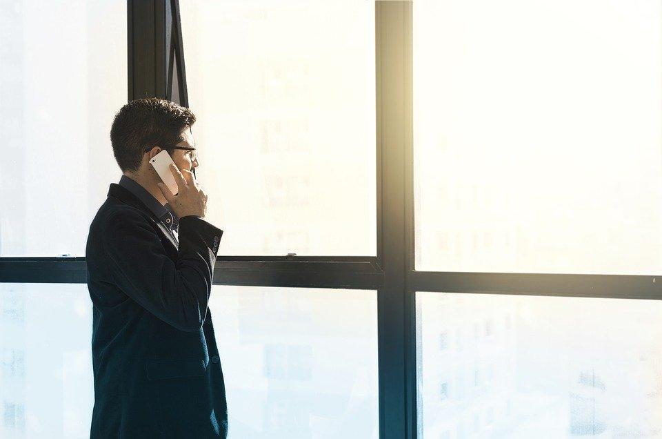 男, 細胞の, スーツ, 起業家, 事業, ビジネス, 電話, 細胞, 若