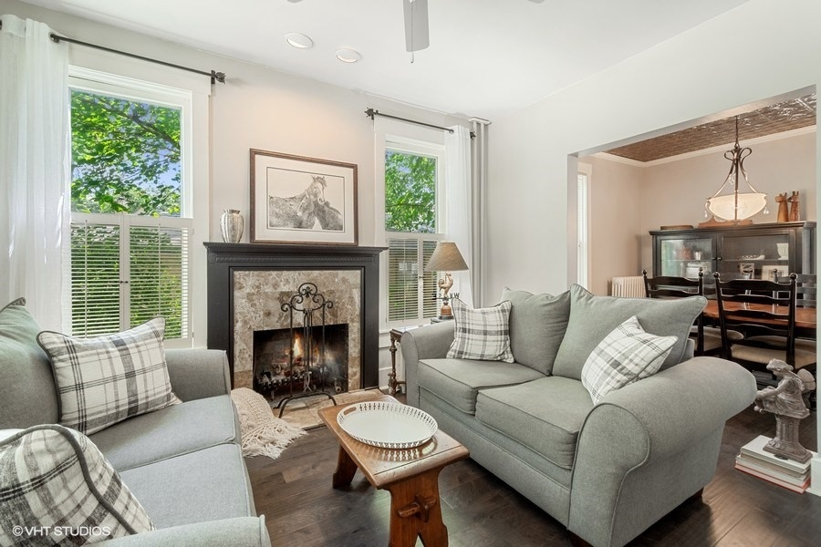 Living Room of Lincoln Avenue Home