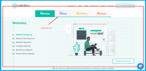 check click tab functionality