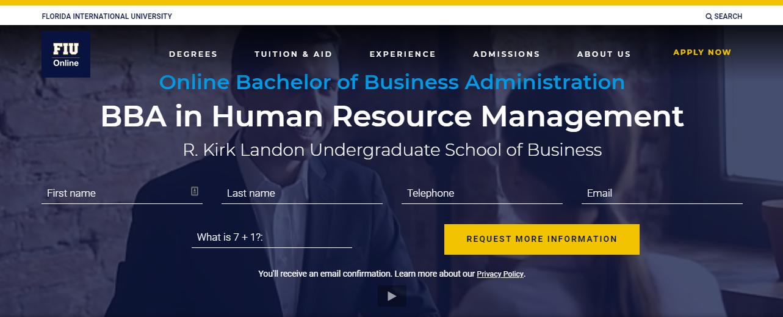 BBA in Human Resource Management [Florida International University]
