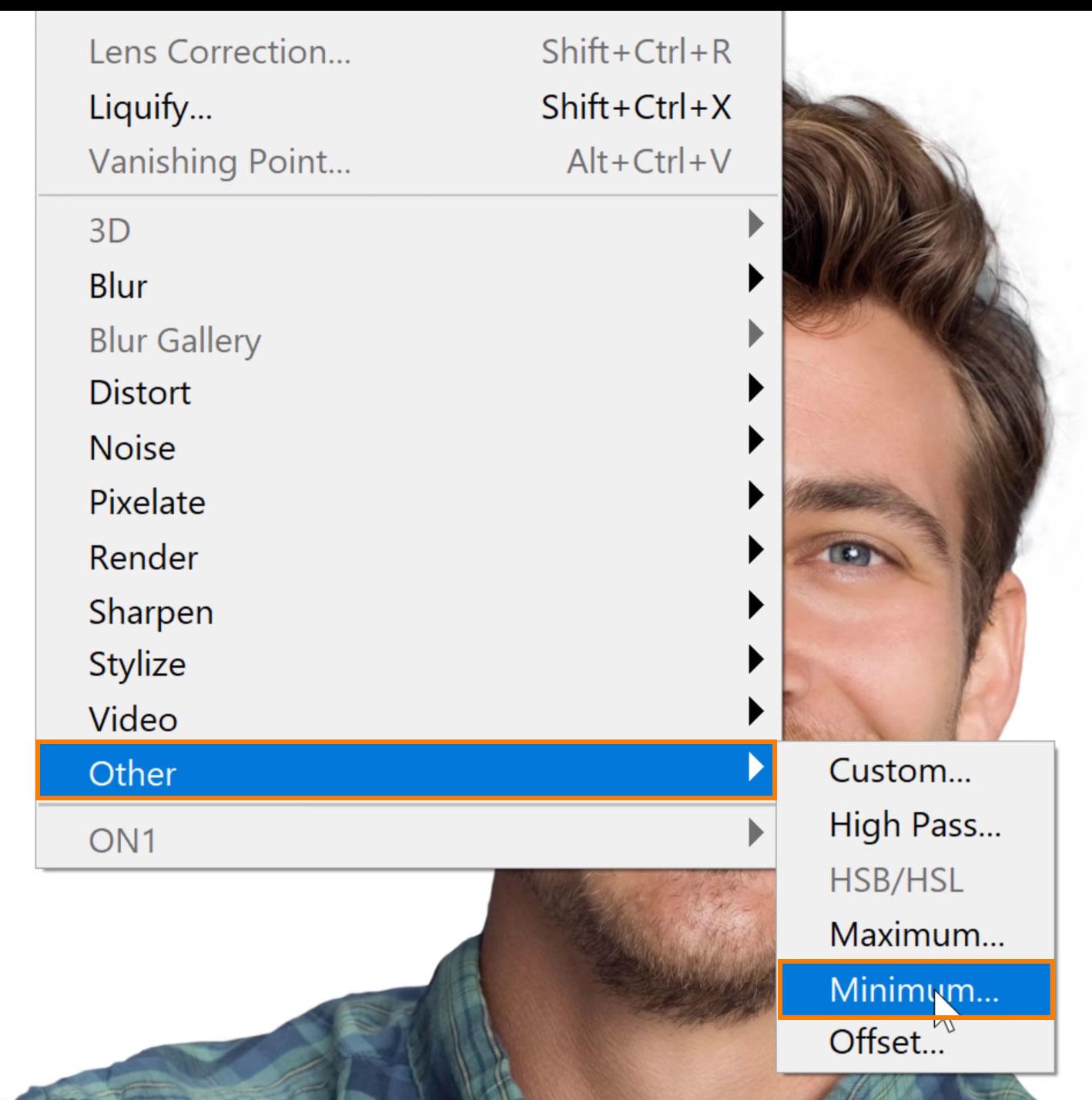 Choose Filter > Other > Minimum