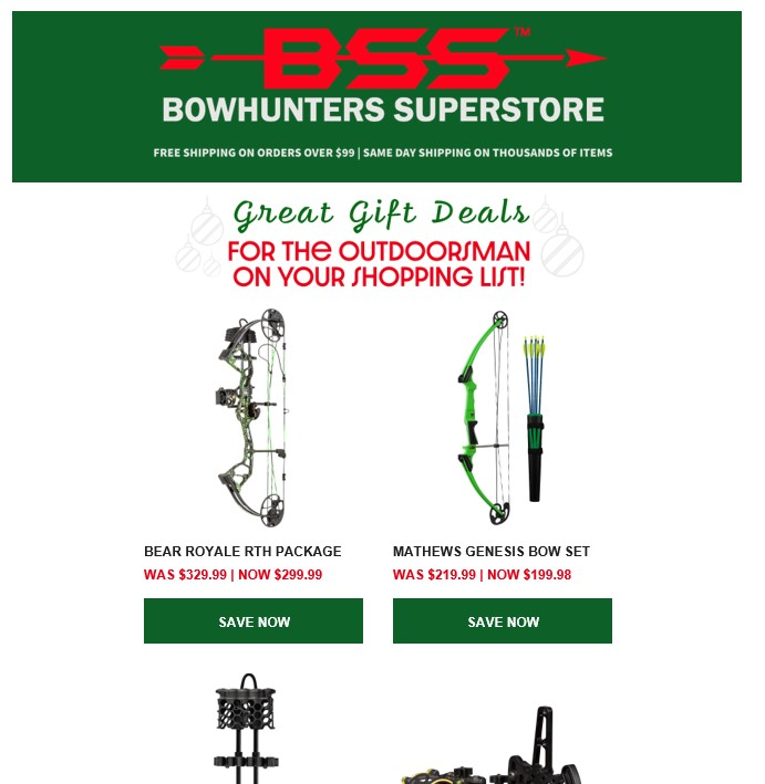 an example email from bowhunters superstore emphasizing relationships between customers