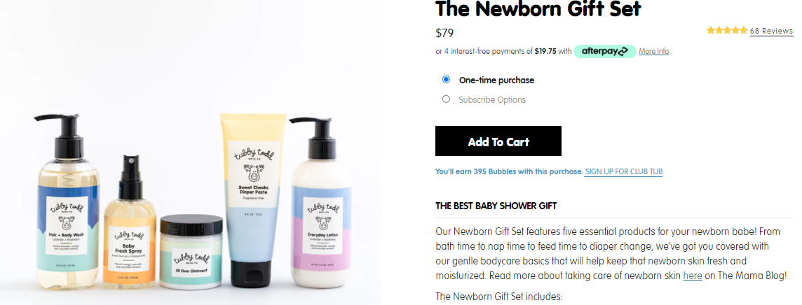 All natural baby products examples