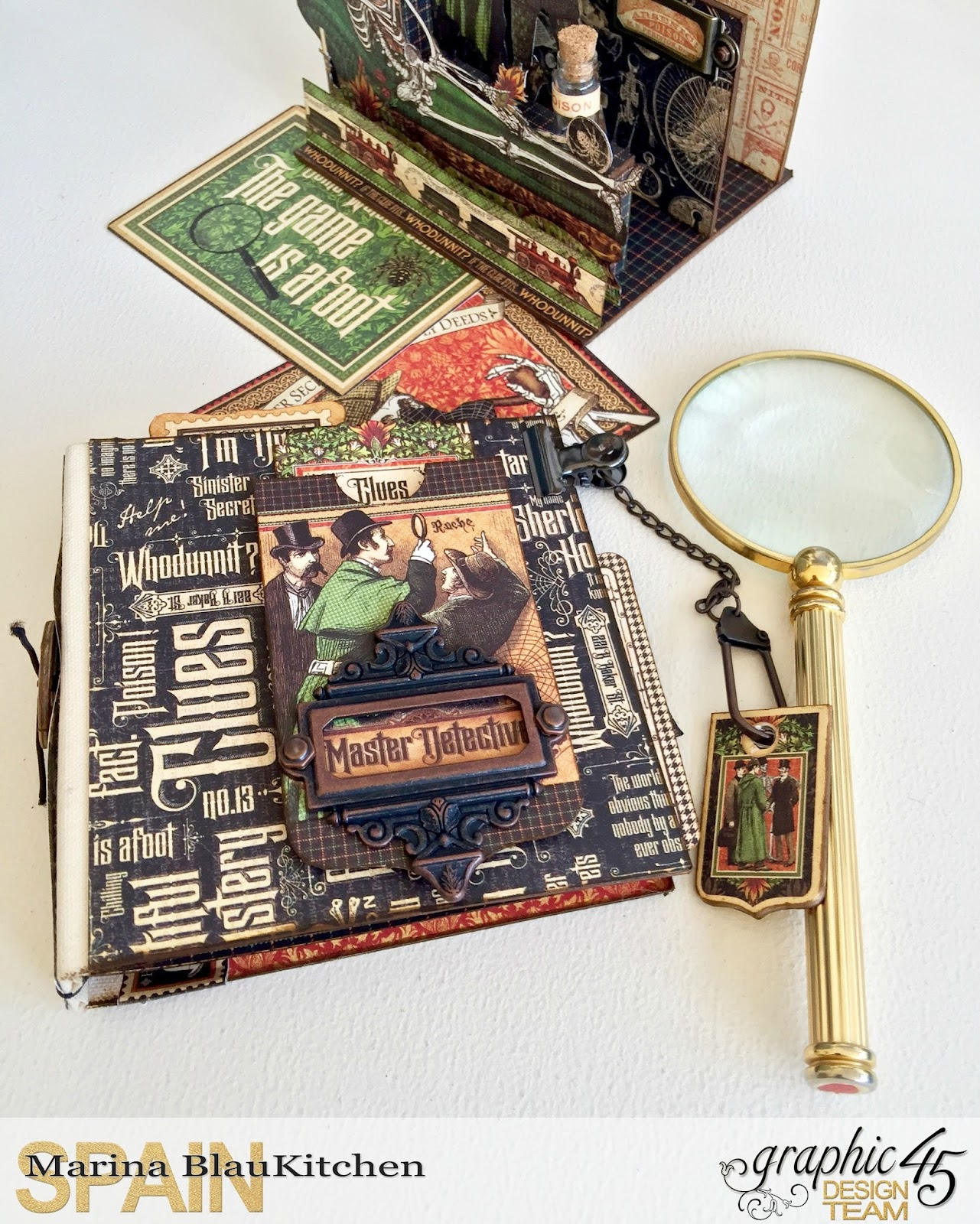 Stand and Mini Album Master Detective by Marina Blaukitchen Product by Graphic 45 photo 7.jpg