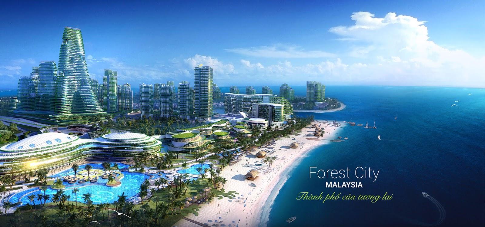 Kết quả hình ảnh cho căn hộ Forest City Malaysia