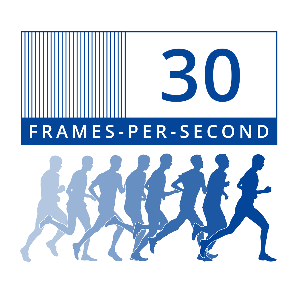 30 frames per second security recording