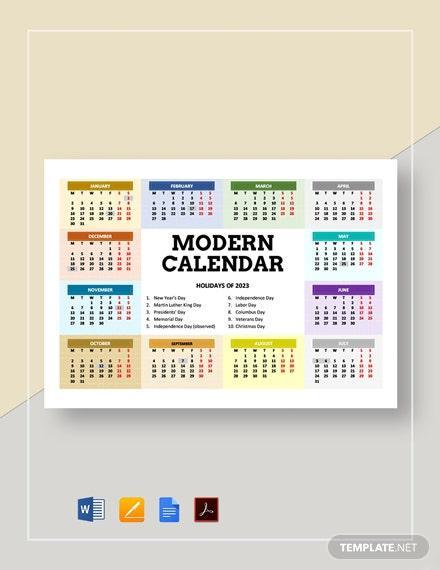 E:\статьи\Декабрь 30+ Free Calendar Templates In Google Docs\Modern-Calendar-2.jpg